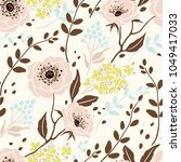 seamless retro pattern with... | Shutterstock .eps vector #1049417033