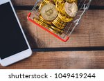 basket of crypto currency... | Shutterstock . vector #1049419244