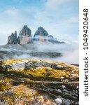 great view of alpine rocky... | Shutterstock . vector #1049420648