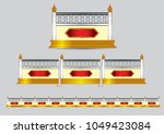 wall temple thailand pattern... | Shutterstock .eps vector #1049423084