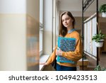 young attractive female high...   Shutterstock . vector #1049423513