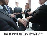closeup. unified business team . | Shutterstock . vector #1049425799