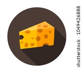piece of cheese icon. graph...