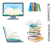 online encyclopedia poster with ... | Shutterstock .eps vector #1049431178