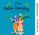 religion holiday palm sunday... | Shutterstock . vector #1049432483