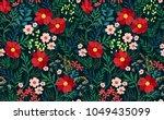 trendy seamless floral pattern. ... | Shutterstock .eps vector #1049435099
