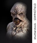 portrait of a daemon monster... | Shutterstock . vector #1049437613