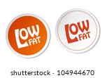 low fat stickers | Shutterstock .eps vector #104944670