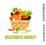 wicker basket full of... | Shutterstock .eps vector #1049450804