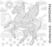 pegasus coloring page. greek... | Shutterstock .eps vector #1049450966