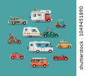 quality flat vector transport... | Shutterstock .eps vector #1049451890