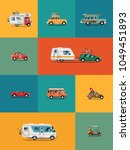 quality flat vector banner or... | Shutterstock .eps vector #1049451893