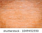 the great wall of red bricks   Shutterstock . vector #1049452550