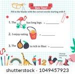 doodle a z alphabet exercise... | Shutterstock .eps vector #1049457923