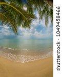exotic paradise scene of... | Shutterstock . vector #1049458466