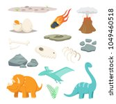 dinosaurs  stones and other... | Shutterstock .eps vector #1049460518