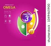 kids omega calcium and vitamin  ...   Shutterstock .eps vector #1049465900