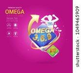 kids omega calcium and vitamin  ... | Shutterstock .eps vector #1049465909