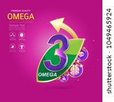 kids omega calcium and vitamin  ... | Shutterstock .eps vector #1049465924