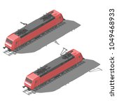modern electric locomotive...   Shutterstock .eps vector #1049468933