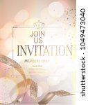elegant invitation card with... | Shutterstock .eps vector #1049473040