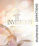 elegant invitation card with... | Shutterstock .eps vector #1049473040