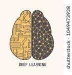 icon brain neural networks... | Shutterstock .eps vector #1049473928