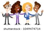 vector illustration of friendly ...   Shutterstock .eps vector #1049474714