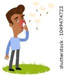 vector illustration of a sick... | Shutterstock .eps vector #1049474723