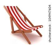 3d Render Of A Beach Chair