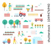 farm workers  special machines... | Shutterstock .eps vector #1049476940