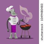 smart modern futuristic robot... | Shutterstock .eps vector #1049480483