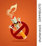 no smoking sign and angry bad... | Shutterstock .eps vector #1049481470
