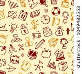 hand drawn business seamless... | Shutterstock .eps vector #1049482553