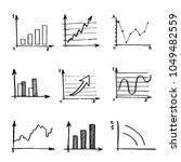 hand drawn business doodle set... | Shutterstock .eps vector #1049482559