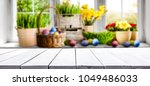 table background and easter... | Shutterstock . vector #1049486033