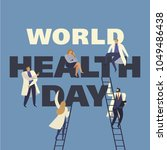 world health day 7th april with ...   Shutterstock .eps vector #1049486438