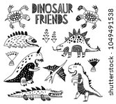 funny cartoon dino collection.... | Shutterstock .eps vector #1049491538