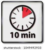 clock with ten short minutes | Shutterstock . vector #1049492933