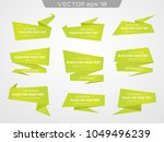 set with abstract origami... | Shutterstock .eps vector #1049496239