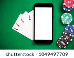 playing casino games and poker... | Shutterstock . vector #1049497709