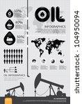 infographic oil of the world... | Shutterstock .eps vector #104950094