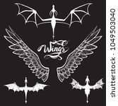 dragon flying  shadow  ... | Shutterstock .eps vector #1049503040