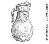 sketch ink graphic ice drink... | Shutterstock .eps vector #1049503886