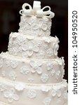 a white wedding cake | Shutterstock . vector #104950520