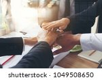 Small photo of Investor business firm handshake with partner vendor in city background,Collaboration of CEO Leader hand shaking for agreement trusted teambuilding partnership and alliance concept.teamwork concept