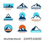 collection of mountains icons   ... | Shutterstock .eps vector #1049510600