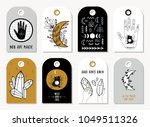 set of creative 8 gift tags... | Shutterstock .eps vector #1049511326