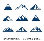 collection of mountains icons   ... | Shutterstock .eps vector #1049511458
