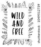 wild and free cards with quartz ... | Shutterstock .eps vector #1049512739
